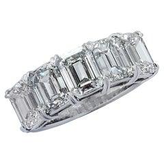 Vivid Diamonds 6.02 Carat Five Stone Diamond Wedding Band