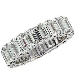 Vivid Diamonds 6.20 Carat Emerald Cut Diamond Eternity Bands