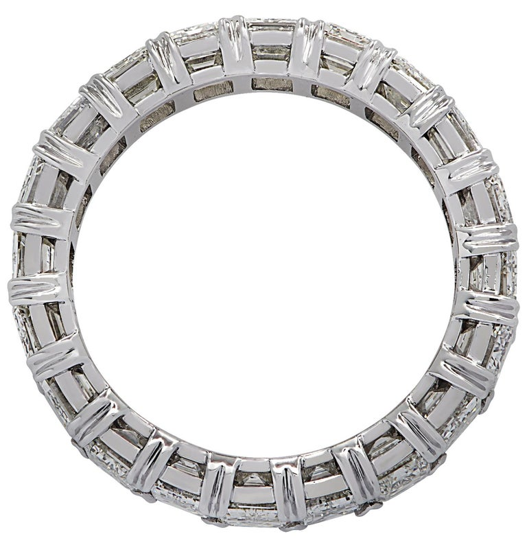 Modern Vivid Diamonds 6.35 Carat Diamond Eternity Band For Sale