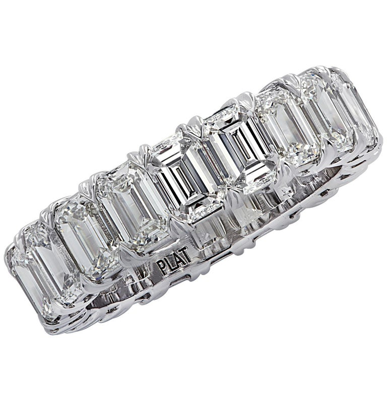 Women's Vivid Diamonds 6.35 Carat Diamond Eternity Band For Sale
