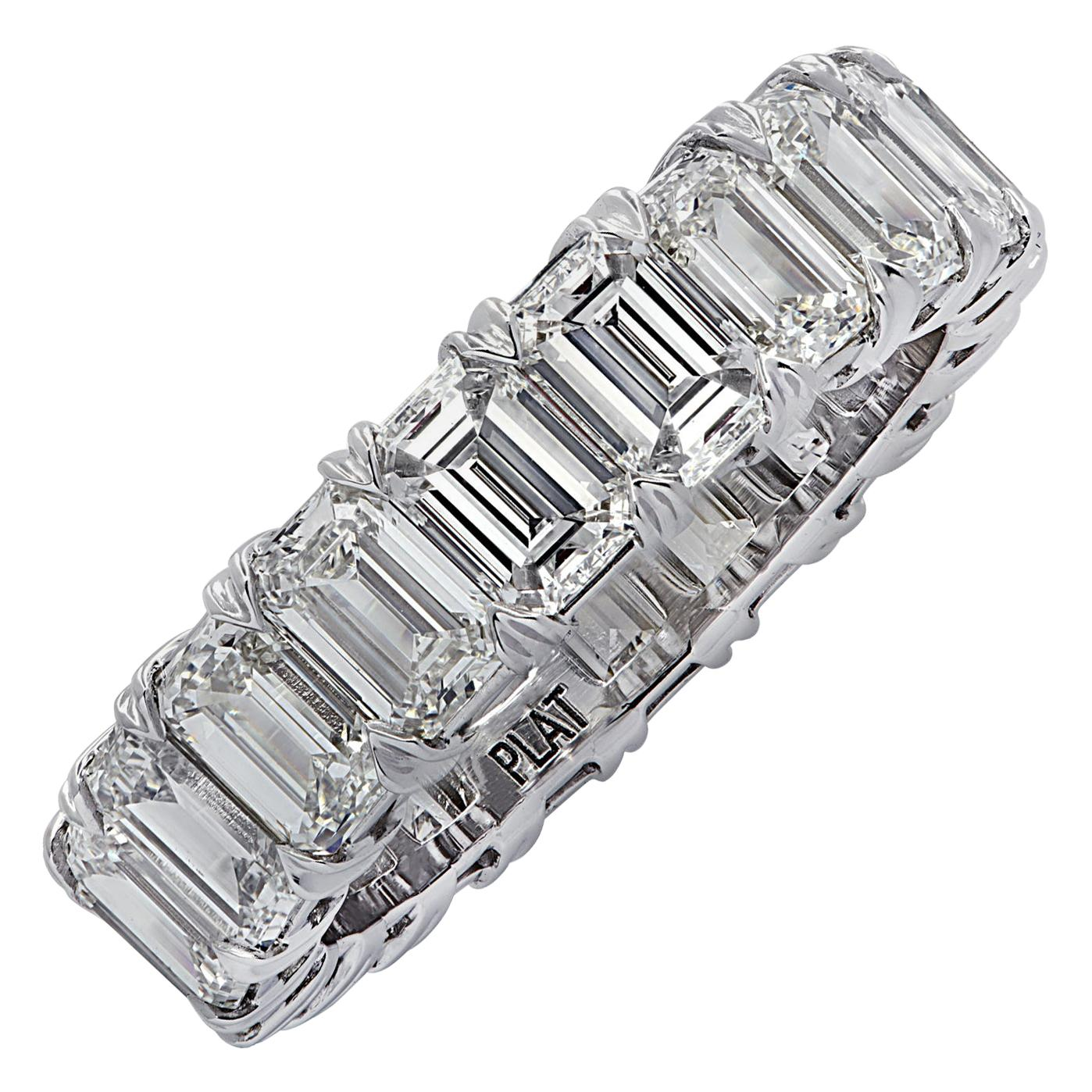 Vivid Diamonds 6.35 Carat Diamond Eternity Band