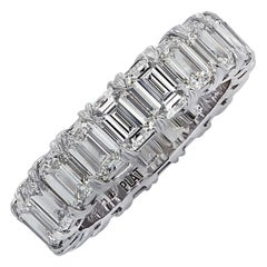 Vivid Diamonds 6.35 Carat Diamond Eternity Band