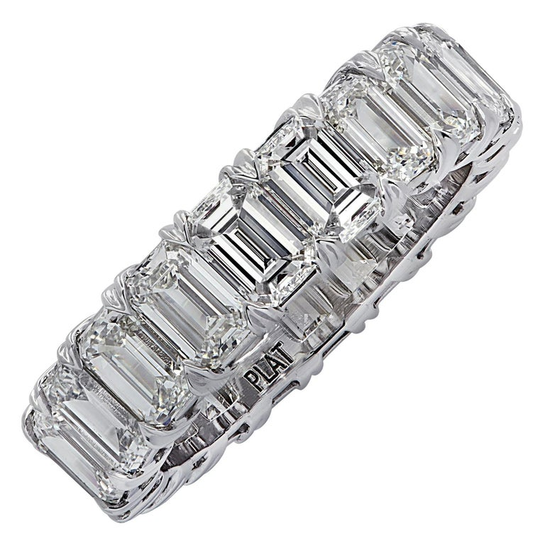 Vivid Diamonds 6.35 Carat Diamond Eternity Band For Sale