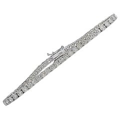 Vivid Diamonds 6.36 Carat Diamond Tennis Bracelet
