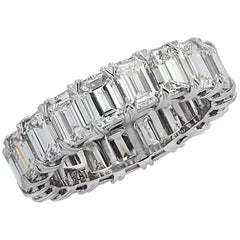 Vivid Diamonds 6.43 Carat Emerald Cut Diamond Eternity Band
