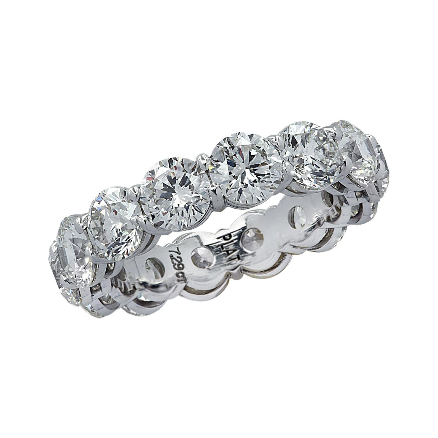 Vivid Diamonds 7.29 Carat Diamond Eternity Band