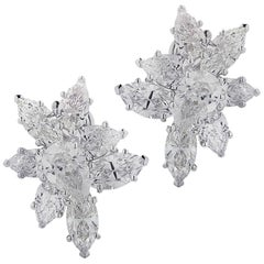 Vivid Diamonds 7.92 Carat Diamond Cluster Earrings