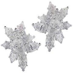Vivid Diamonds 7.92 Carat Diamond Cluster Earrings