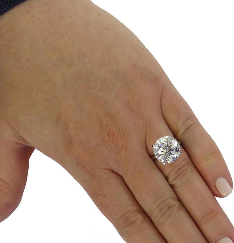 Round Cut Vivid Diamonds 8.01 Carat Diamond Solitaire Engagement Ring For Sale