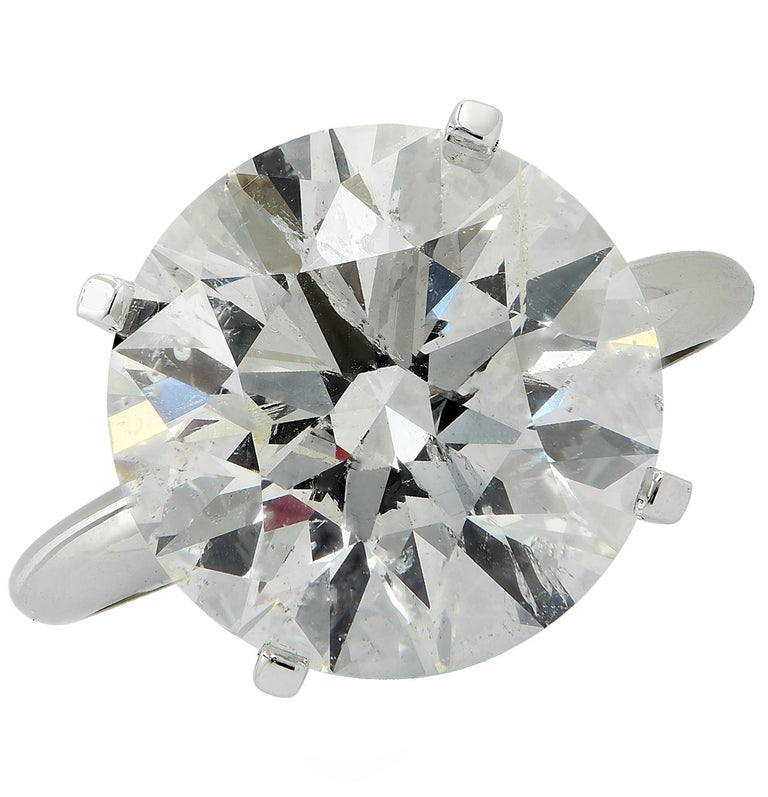 Vivid Diamonds 8.01 Carat Diamond Solitaire Engagement Ring In New Condition For Sale In Miami, FL