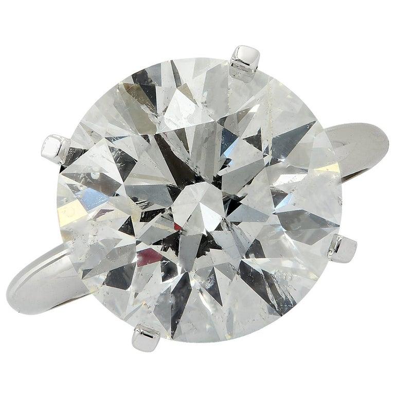 Vivid Diamonds 8.01 Carat Diamond Solitaire Engagement Ring For Sale
