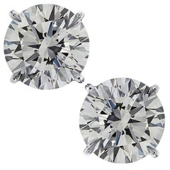 Vivid Diamonds 8.14 Carat Diamond Stud Earrings