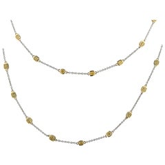 Vivid Diamonds 9.03 Carat Fancy Yellow Diamonds by the Yard Necklace
