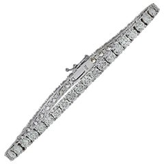 Vivid Diamonds 9.39 Carat Diamond Tennis Bracelet