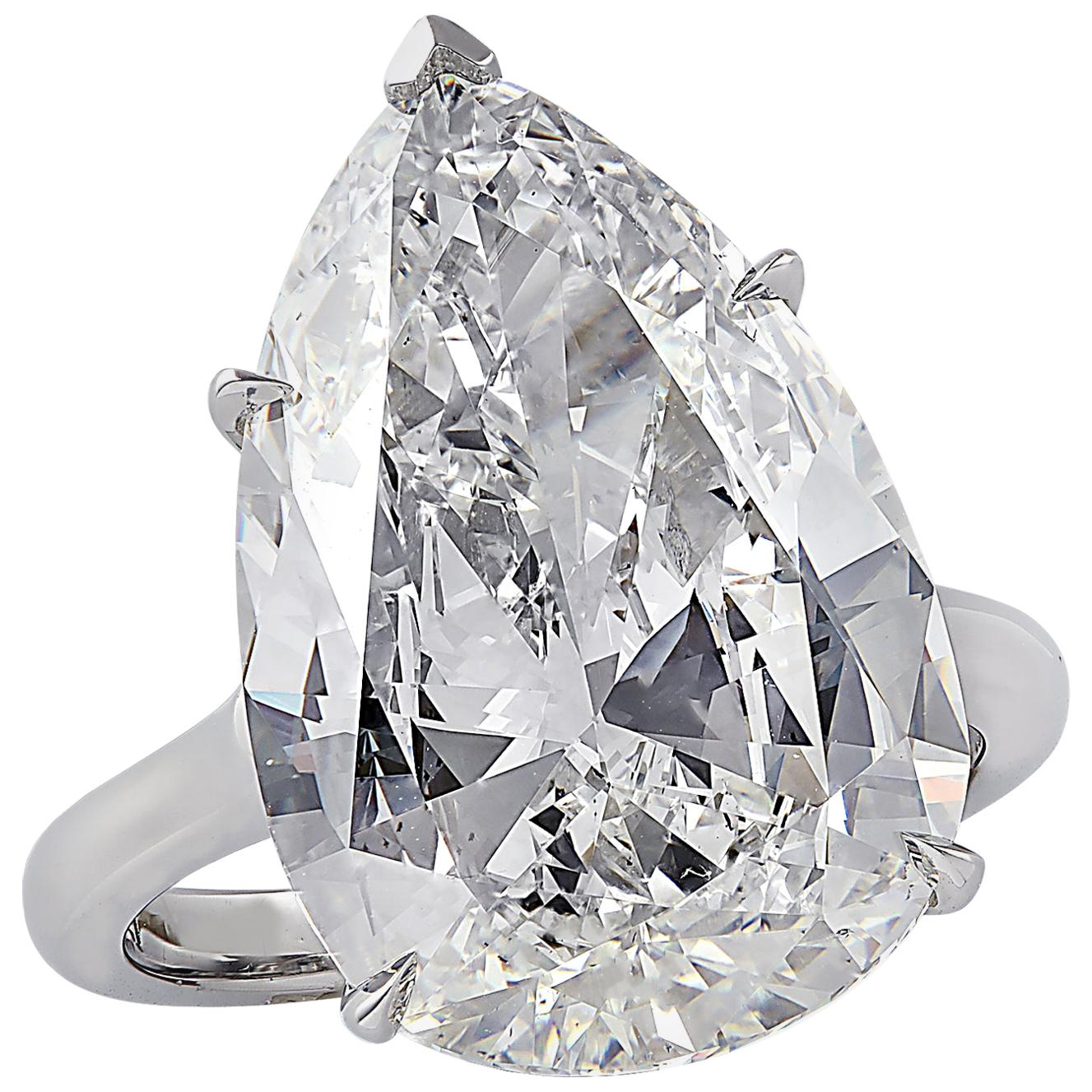 Vivid Diamonds GIA Certified 10.17 Carat Diamond Engagement Ring