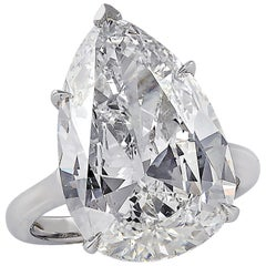 Vivid Diamonds GIA Certified 10.17 Carat Diamond Engagement Ring