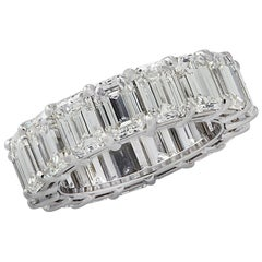 Vivid Diamonds GIA Certified 11.50 Carat Diamond Eternity Band