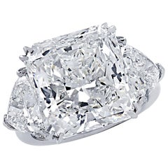 Vivid Diamonds GIA Certified 11.56 Carat Radiant Cut Diamond Engagement Ring