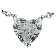 Vivid Diamonds GIA Certified 1.20 Carat Heart Shape Diamond Necklace