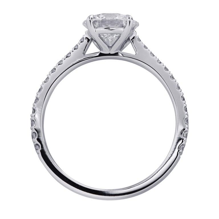 Modern Vivid Diamonds GIA Certified 1.38 Carat Diamond Engagement Ring For Sale