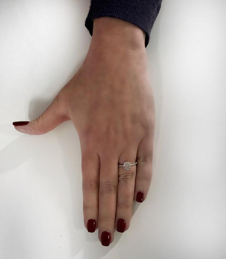 Round Cut Vivid Diamonds GIA Certified 1.38 Carat Diamond Engagement Ring For Sale