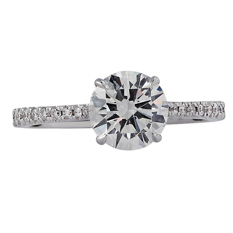 Vivid Diamonds GIA Certified 1.38 Carat Diamond Engagement Ring In New Condition For Sale In Miami, FL