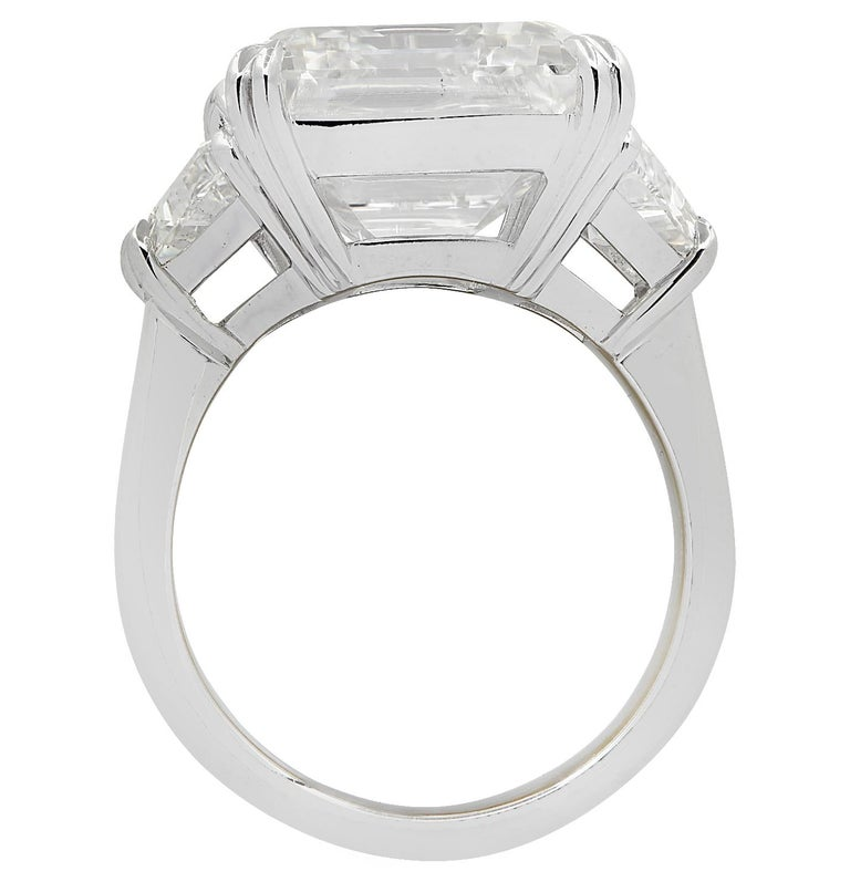 Vivid Diamonds GIA Certified 14.11 Carat Emerald Cut Diamond Engagement Ring In New Condition In Miami, FL