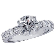 Vivid Diamonds GIA Certified 1.65 Carat Diamond Engagement Ring