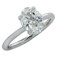 Vivid Diamonds GIA Certified 1.80 Carat Oval Diamond Engagement Ring