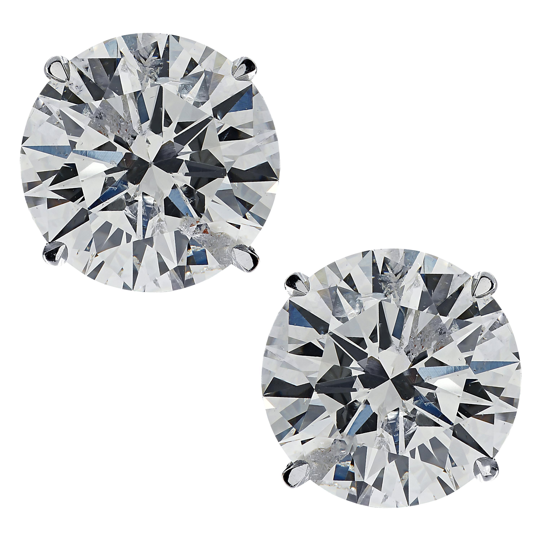 Vivid Diamonds GIA Certified 1.92 Carat Diamond Studs