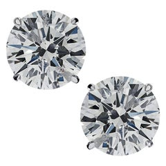 Vivid Diamonds GIA Certified 1.92 Carat Diamond Studs