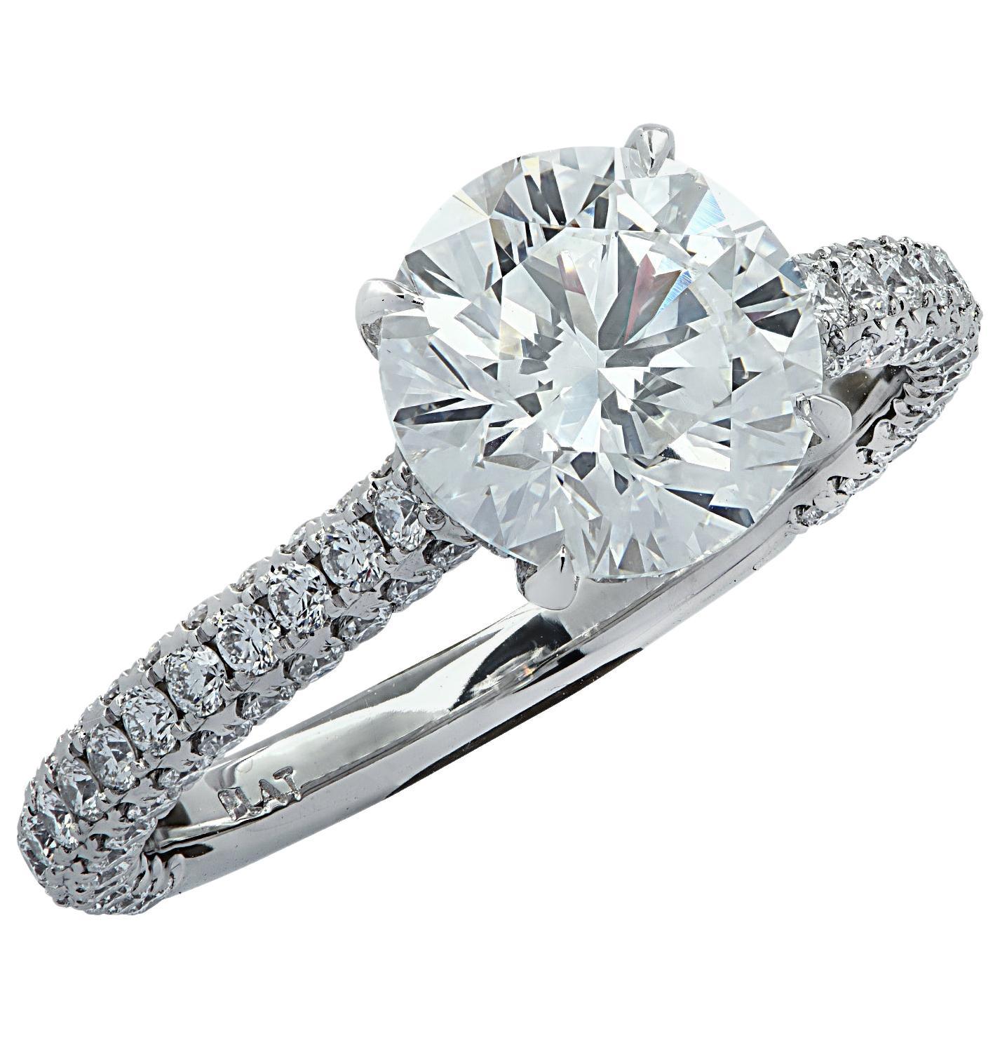 Vivid Diamonds GIA Certified 2.01 Carat Diamond Engagement Ring