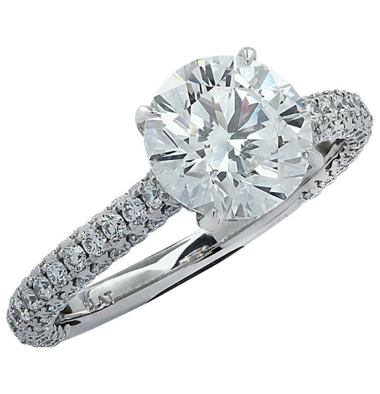 Vivid Diamonds GIA Certified 2.01 Carat Diamond Engagement Ring For Sale