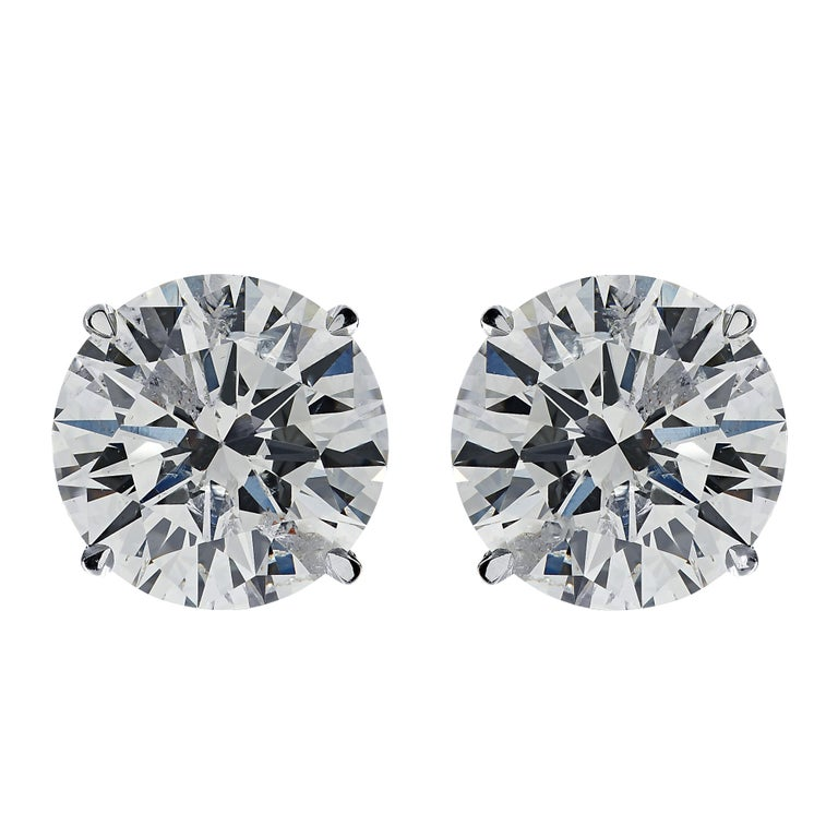 Vivid Diamonds GIA Certified 2.01 Carat Diamond Stud Earrings In New Condition For Sale In Miami, FL
