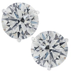 Vivid Diamonds GIA Certified 2.01 Carat Diamond Stud Earrings