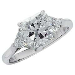 Vivid Diamonds GIA Certified 2.02 Carat Radiant Cut Engagement Ring