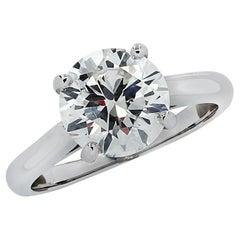Vivid Diamonds GIA Certified 2.03 Carat Diamond Solitaire Engagement Ring