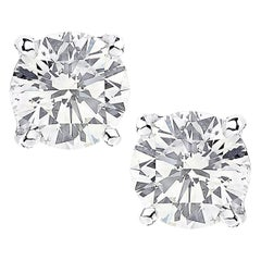 Vivid Diamonds GIA Certified 2.06 Carat Diamond Stud Earrings