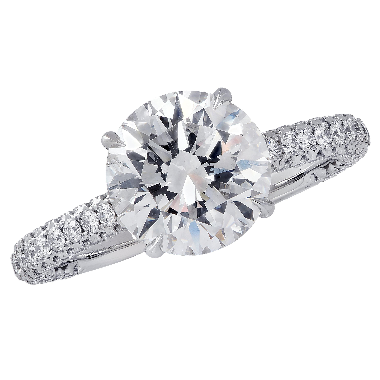 Vivid Diamonds GIA Certified 2.09 Carat Diamond Engagement Ring