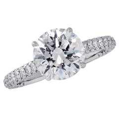 Vivid Diamonds GIA Certified 2.09 Carat Diamond Engagement Ring
