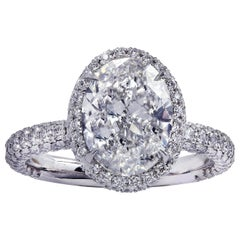 Vivid Diamonds GIA Certified 2.50 Carat Diamond Halo Engagement Ring