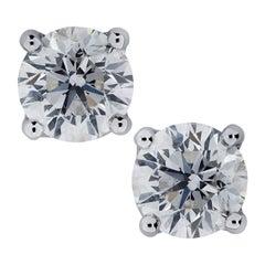 Vivid Diamonds GIA Certified 2.58 Carat Diamond Solitaire Studs