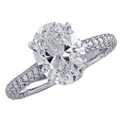 Vivid Diamonds GIA Certified 3.02 Carat Diamond Engagement Ring