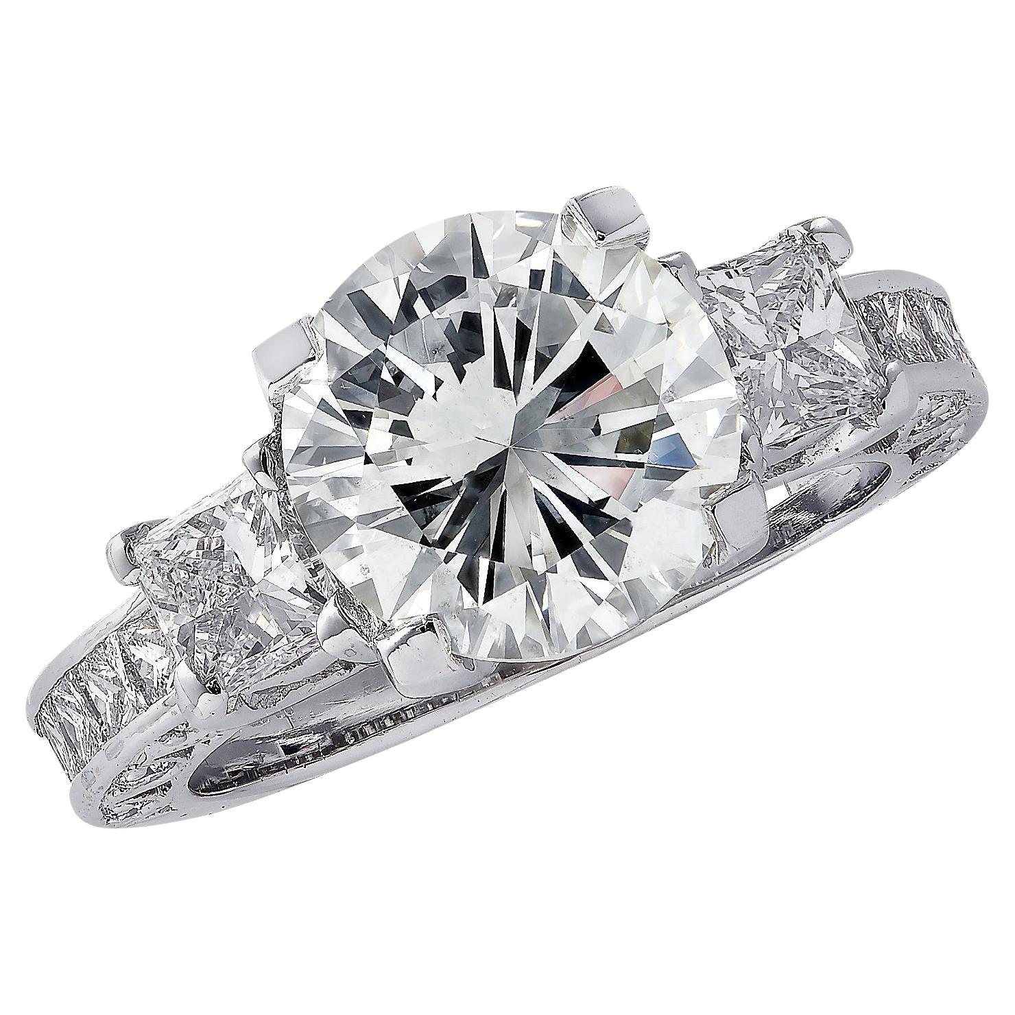 Vivid Diamonds GIA Certified 3.03 Carat Diamond Engagement Ring