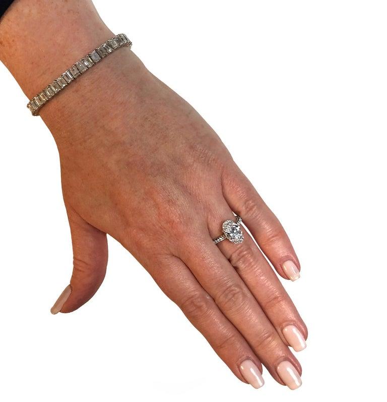 Modern Vivid Diamonds GIA Certified 3.28 Carat Diamond Engagement Ring For Sale