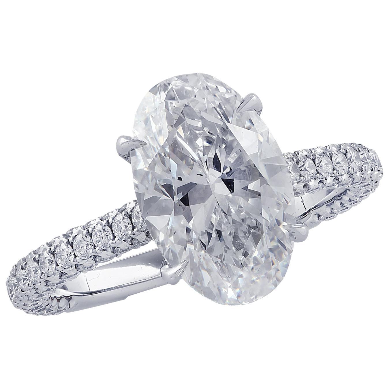 Vivid Diamonds GIA Certified 3.28 Carat Diamond Engagement Ring