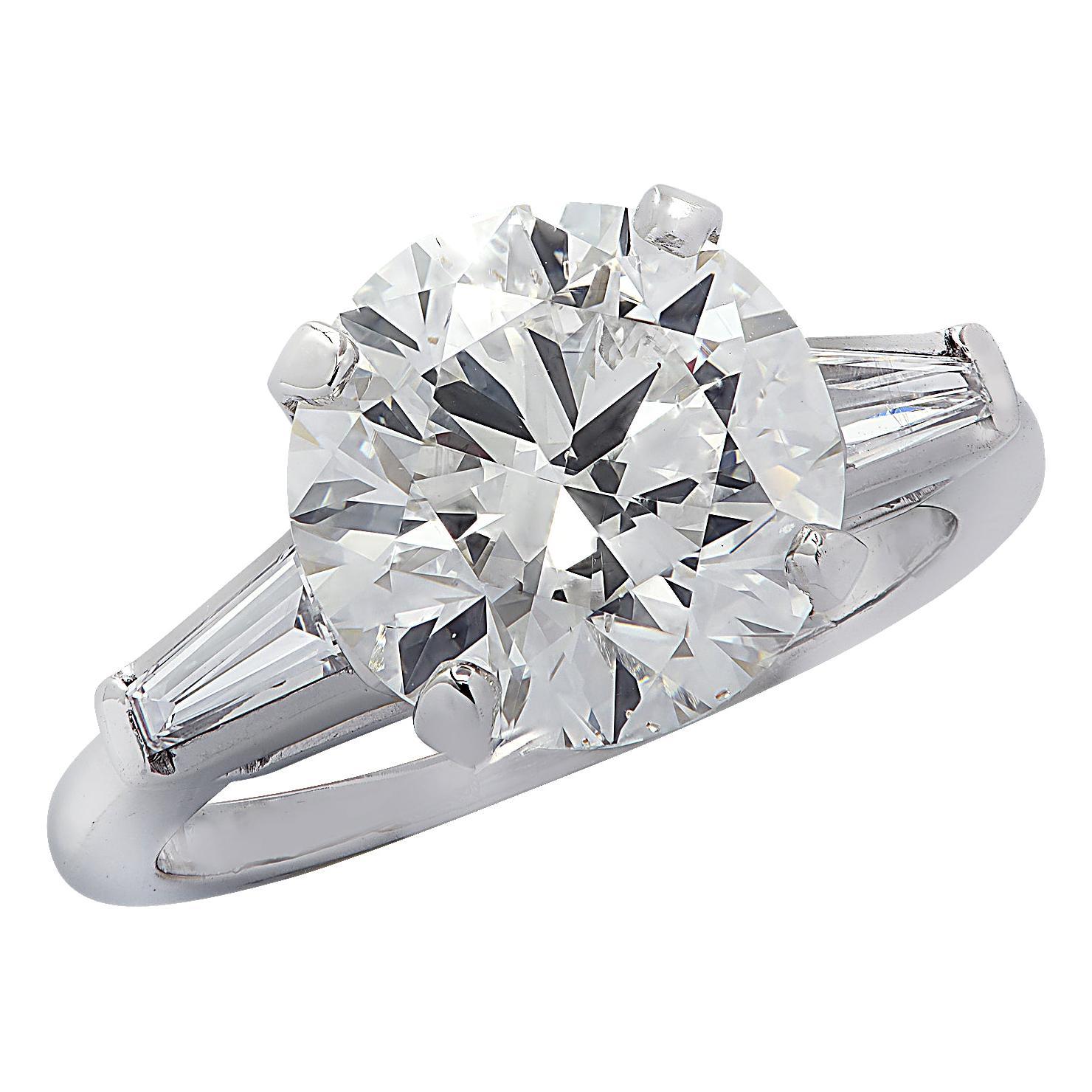 Vivid Diamonds GIA Certified 3.92 Carat Diamond Engagement Ring