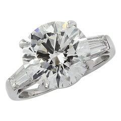 Vivid Diamonds GIA Certified 4.54 Carat Diamond Engagement Ring