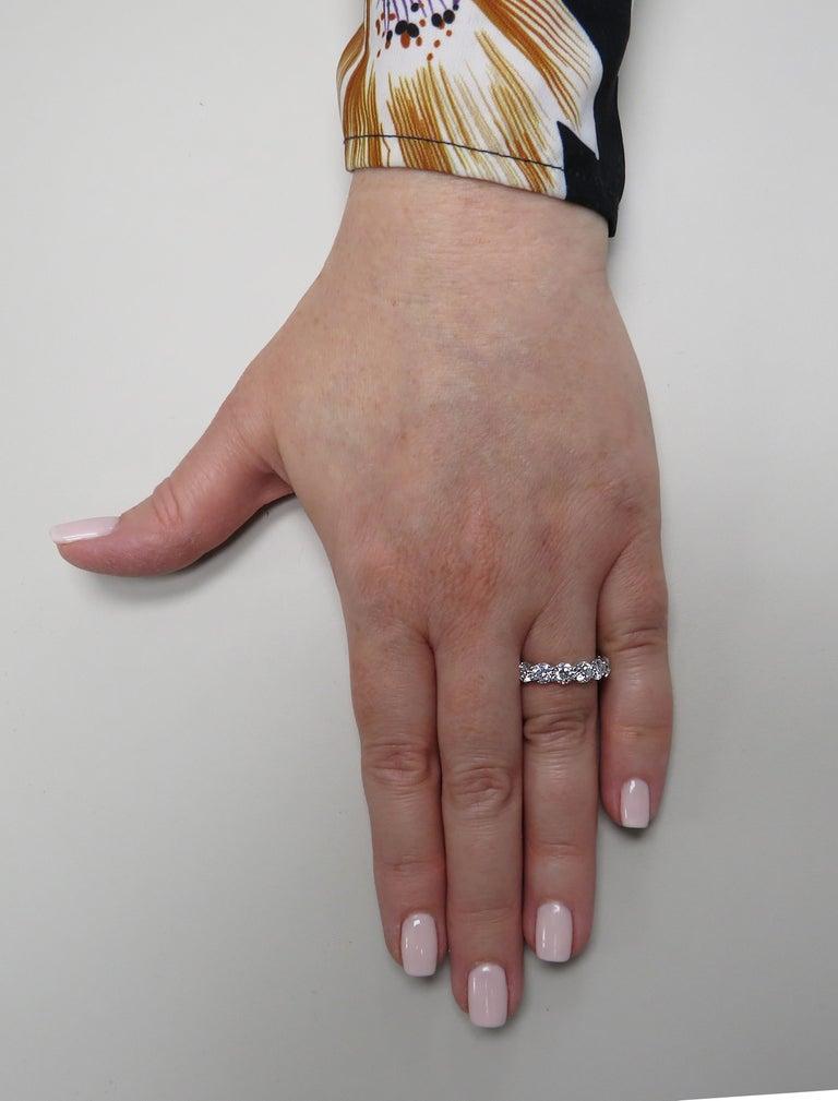 Vivid Diamonds GIA Certified 4.68 Carat Diamond Eternity Band In New Condition For Sale In Miami, FL