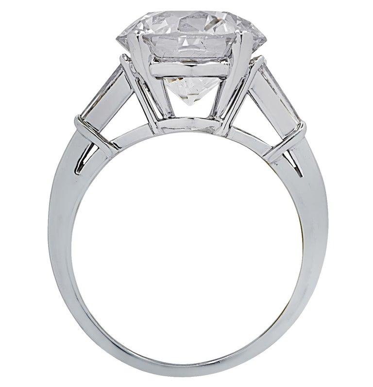 Old European Cut Vivid Diamonds GIA Certified 4.87 Carat Diamond Engagement Ring For Sale